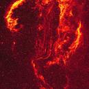 Veil Nebula mosaic in colour tweaked Ha,                                Rick Stevenson