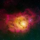 Lagoon Nebula in HOS,                                Aaron Freimark