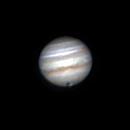 Jupiter & Grs plus moon Ganymede & shadow,                                Wanni