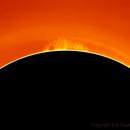 Protuberance solaire,                                Eric COUSTAL ( F5ODA )