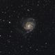 M101 Pinwheel Galaxy in LRGBHa,                                Temu Nana