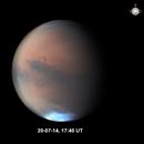 2 views of Mars 1 day 2 hrs 40 mins apart,                                Niall MacNeill