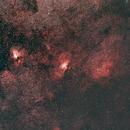 NGC 6604 + NGC 6611 + NGC 6618,                                ManuelG.