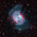 M27 - The Dumbbell Nebula LRGB Ha OIII,                                Paul H
