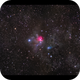 NGC1579 The Northern Trifid Nebula - RGB in full moonlight,                                Göran Nilsson