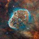 Crescent Nebula (NGC 6888)  in HST palette,                                Bogdan Jarzyna
