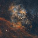 SH2-115 / SH2-116: Emission Nebula,                                Elvie1