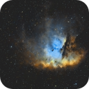 NGC 281 bicolor Ha/OIII by software filter,                                  pete_xl