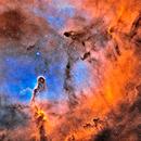 IC 1396 Elephant's Trunk nebula in HaHOO,                                Hollis
