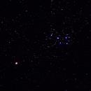 Mars- und Plejaden-Konjunktion, M45, 135mm, ISO-800, 400sec,                                Torsten