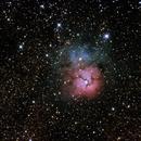 Nebuleuse Trifide : M20,                                DominiqueJoubert