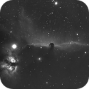 IC 434 Horsehead Nebula and Flame Nebula-Ha (4 nights combined image),                                Adel Kildeev