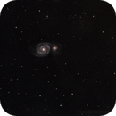 M51 - salvage from a bad night,                                bobzeq25