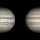 Jupiter in March, 2014 - 3D animation (cross-eyed viewing),                                Dzmitry Kananovich