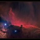Starless Horsehead and Flame Nebula,                                Josh Smith