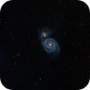 Messier M51 - Waxing Gibbous Moon,                                TheGovernor