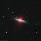 M82 Cigar Galaxy in HaLRGB from a Red Zone,                    Douglas J Struble