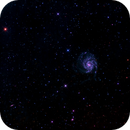 M101 - Pinwheel Galaxy - Full Frame - LRGB - Orion ED80 - Sirius EQ - ASI1600MM Cool,                                Rowland Archer