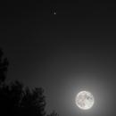 Moon and Júpiter conjunction 05/07/2020,                                Lujafer