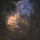 SH2-132 Bicolor   Ha 4 Std, OIII 5 Std,                                astrozausel