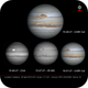 Jupiter 28 April composite with different filters,                                LacailleOz
