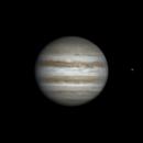 Rotation of Jupiter and Europa (24 apr 2015, 20:45-21:27 UTC+3),                                Star Hunter
