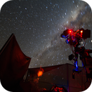 Nightscape under Tivoli's sky in Namibia - my setup and me,                                Thorsten