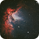 NGC 7380 Wizard Nebula in Ha & OIII with Synthetic Green,                    Douglas J Struble