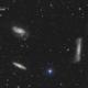 Le triplet du lion (M65, M66 et NGC 3628) - Sadr Espagne,                                Julien Bourdette