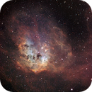 Tadpoles Nebula in narrowband,                                David Lindemann
