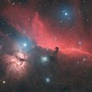 Horsehead Nebula (Barnard 33, IC 434) and Flame Nebula (NGC 2024),                                Narathip.Ruksa