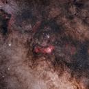 Saturn, Lagoon nebula and Trifid nebula Widefield,                                Mikael De Ketelaere