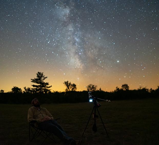Stargazing in Les Cévennes,                                David
