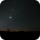 Venus, Jupiter, and the Pleiades rising over a VLA antenna in New Mexico,                                Jeremy Seals