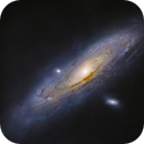 The Andromeda galaxy from outside of the Milky Way Galaxy,                                Toshiya Arai
