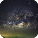 Milky Way over Erupting Volcano ,                                Sergio Emilio Montúfar Codoñer