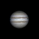 Shadows of Io and Callisto on Jupiter (26 feb 2015, 22:38),                                Star Hunter