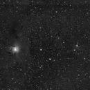 NGC7023 (Iris) and VdB141 (Ghost) in L filter,                                Jan Bielański