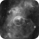 Close crop bubble nebula HA,                                Greg Watkins