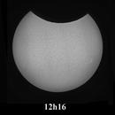 Annular Solar Eclipse of June 10th, 2021 from Paris : an example on how Murphy's Law works - Sunspots AR2829 and AR2832,                                Jérémie