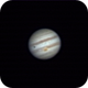 Jupiter with Great Red Spot and shadow of Io,                                amsideribus