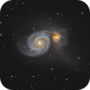My take on the iconic Whirlpool galaxy,                                Guillermo Gonzalez