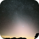 Zodiacal Light, Venus in clouds and M45,                                hbastro