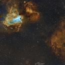 Messier 17 and Sh2-44,                                Paweł Radomski
