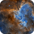 IC 1805 - The Heart Nebula - Ha/OIII,                                Jeremiah Roth
