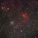 NGC 7654/M 52 + NGC 7635/Blasennebel,                                norbertbuchta