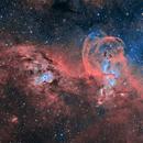 NGC3576 - Statue of Liberty  - HOO-RGB Version,                                Magellan_Team