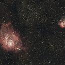 Lagoon and Trifid Nebulae,                                Eugene Beygin