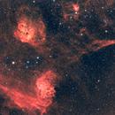 Flaming star nebula through my telescope,                                Ray's Astrophotography