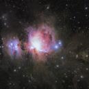 Orion Nebula - with golden dust,                                Satwant Kumar